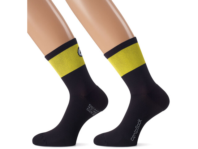 ASSOS CentoSocks_Evo8, negro/amarillo